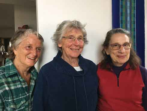 2019 Volunteers of the Year, Wendy Wallas, Libby Mills, and Rosalyn Shaoul